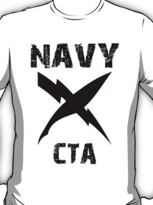 US Navy CTA Insignia - Black T-Shirt