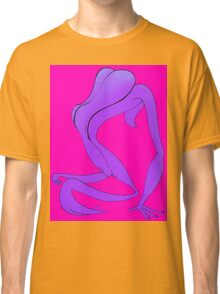 Naked Ape on Back 1b Classic T-Shirt