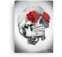 Rose Eye Skull Metal Print