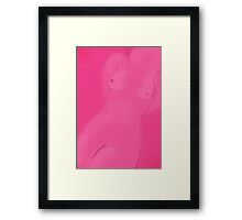 Pink Female Aspects Framed Print