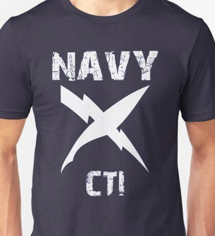 US Navy CTI Insignia - White Unisex T-Shirt