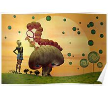 Alice and the Caterpillar Poster