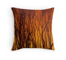 Scorched Branches Throw Pillow