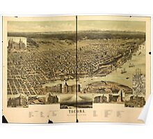 Panoramic Maps Tacoma Poster