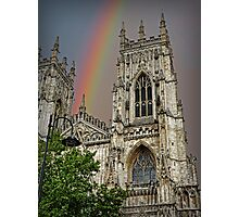 Rainbow over York Minster. Photographic Print