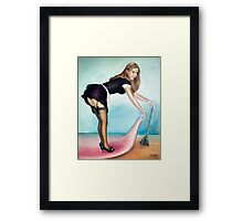 French Maid Pinup Girl  Framed Print