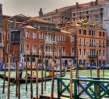 Gondolas on the Grand Canal by Tom Gomez