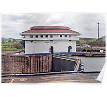 Panama Canal, Miraflores locks. Poster