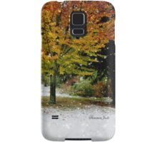 Beech Tree ~ Caught in a Snow Flurry Samsung Galaxy Case/Skin