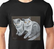 Islay + Bowie, British Shorthair Cats Unisex T-Shirt