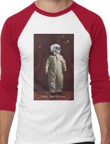 Who Says I'm Scart? (Vintage Halloween Card) Men's Baseball ¾ T-Shirt