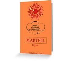 RBC Brewhouse: Martell Cordon Bleu Greeting Card
