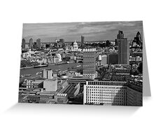 London skyline monochrome Greeting Card
