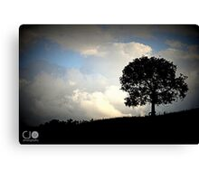 Silhoutte against Stormy Skies Canvas Print