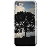 Silhoutte against Stormy Skies iPhone Case/Skin