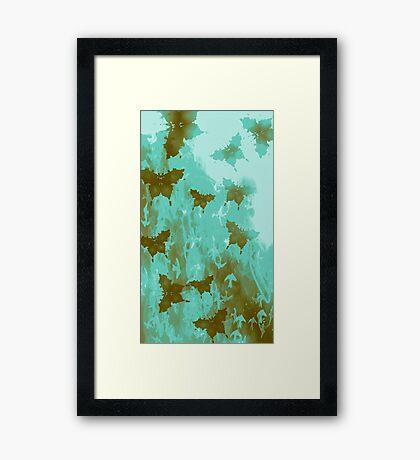 Water Butterflies Framed Print