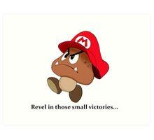 Goomba victory!! Art Print