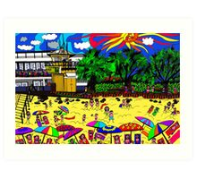 Noosa surf Art Print