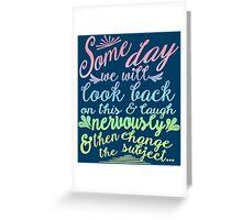 Sketchy Shenanigans Typography Greeting Card