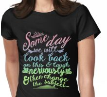 Sketchy Shenanigans Typography Womens Fitted T-Shirt