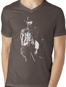 CLINT EASTWOOD Mens V-Neck T-Shirt