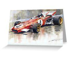 Ferrari 312 B2 1971 Monaco GP F1 Jacky Ickx Greeting Card