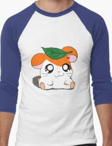 Hamtaro with Leaf Men's Baseball ¾ T-Shirt