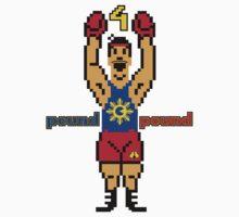 "DAV Brandz Manny ""Pacman"" Pacquiao 8-Bit Tee Kids Tee"