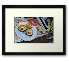Lunch and Collage Materials Framed Print