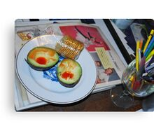 Lunch and Collage Materials Canvas Print