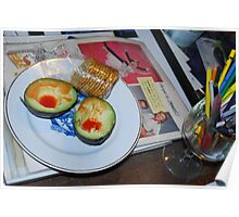 Lunch and Collage Materials Poster