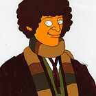 Doctor Who - Tom Baker - Simpson-esque Coloured by Donnahuntriss