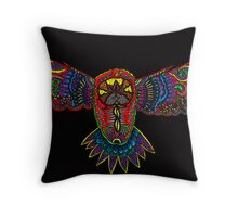 Black owl Throw Pillow