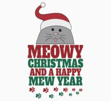 Meowy Christmas And A Happy Mew Year by tshiart