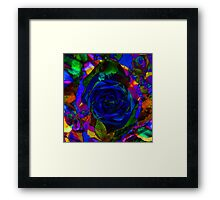 Roses of Blue And Green Framed Print