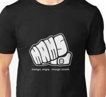 Mongo Angry Mongo Smash Fist Logo White Unisex T-Shirt