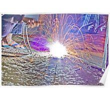 Welding Sparks Poster