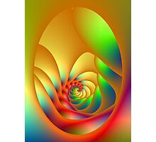 Psychedelic Oval Spiral Photographic Print