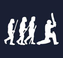 evolution of cricket white silhouette Kids Tee