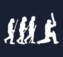 evolution of cricket white silhouette Kids Tee