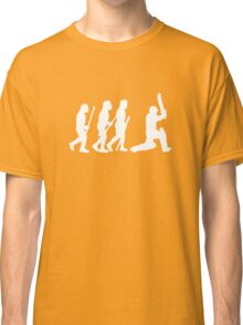 evolution of cricket white silhouette Classic T-Shirt