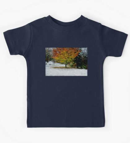 Beech Tree ~ Caught in a Snow Flurry Kids Tee