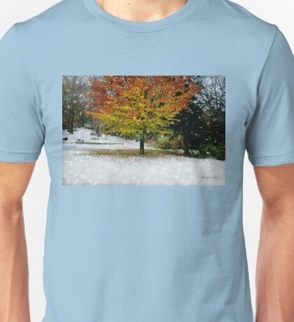 Beech Tree ~ Caught in a Snow Flurry Unisex T-Shirt