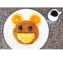 Happy Mouse pancakes with fresh fruit Photographic Print