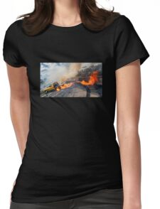 TIPRAT Burnout Womens Fitted T-Shirt