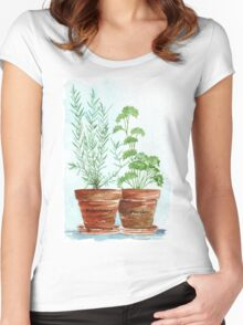 Rosemary and Parsley - Botanical Women's Fitted Scoop T-Shirt