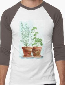 Rosemary and Parsley - Botanical Men's Baseball ¾ T-Shirt