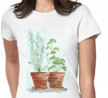 Rosemary and Parsley - Botanical Womens Fitted T-Shirt