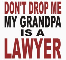 Don't Drop Me My Grandpa Is A Lawyer Baby Tee