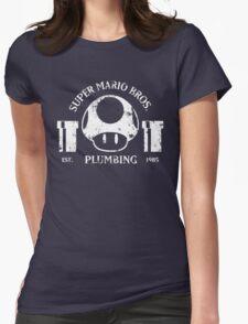 Super Mario Bros. Plumbing (Dark) Womens Fitted T-Shirt